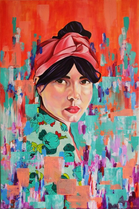 WENDY | MIX MEDIA | 61cm x 92cm - SOLD